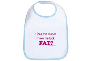 Does this diaper make me look fat? Funny Bib by CafePress