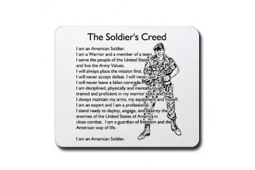 what the soldier creed means to me The original soldier's creed code of conduct for the u s fighting man 1 i am an american fighting man i serve in the forces which guard my country and our way.