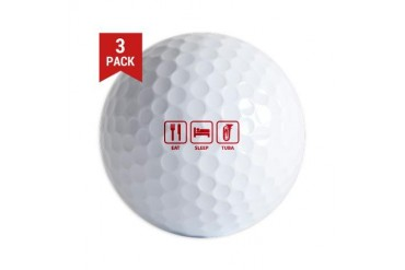 Eat Sleep Tuba Funny Golf Balls by CafePress