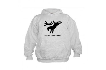 Horse I Do My Own Stunts Kids Hoodie
