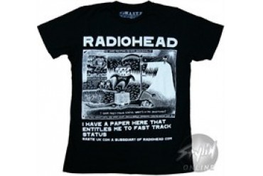 Radiohead I Have a Paper Here That Entitles Me to Fast Track Status T-Shirt Sheer