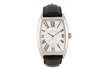 La Manufacture Classic Silver MX5603BE Watch with Black Leather Strap