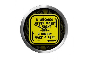 Three Rights Make a Left - Funny Modern Wall Clock by CafePress