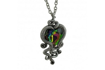 Alchemy Gothic Heart of Cthulhu Pendant w Necklace