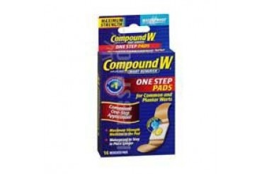 Compound W Wart Remover - Maximum Strength One Step Pads 14 each