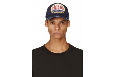 Dsquared2 Navy Distressed Prison Cap