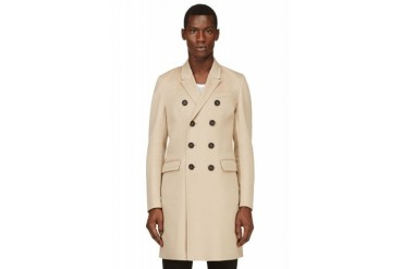 Burberry Prorsum Beige Cashmere Trench Coat