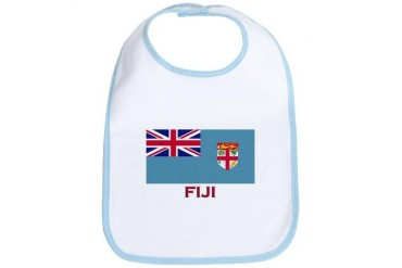 Flag of Fiji Flag Bib by CafePress