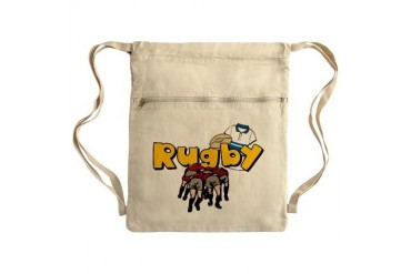 Rugby Sack Pack Football Cinch Sack by CafePress