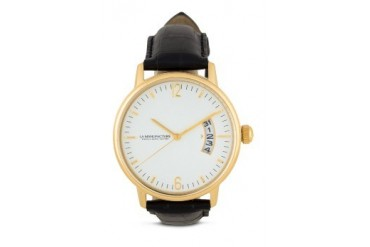 La Manufacture Classic Gold MX3305BF Watch with Black Leather Strap