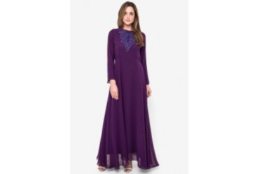 Sofie Design Gamis Satin Sutra Embroiderry