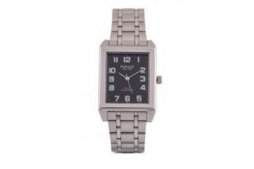 Omax AS0067S/S-Black Dial Alloy Silver Strap Watch