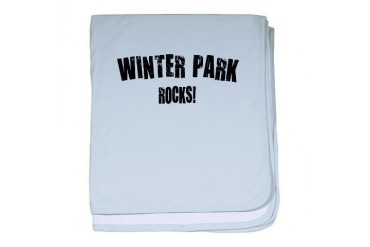 Winter Park Rocks Florida baby blanket by CafePress