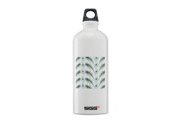 Peacock Feathers Pattern Wedding Sigg Water Bottle 0.6L by CafePress