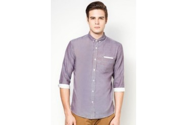 Woven Shirt With Chest Pocket