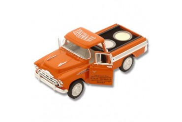 Frost Cutlery 1:28 Scale 1957 Chevrolet Cameo Pickup & State Quarters Gift Set - Tennessee