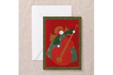 Angel Playing Bass Pk of 10 Art Greeting Cards Pk of 10 by CafePress