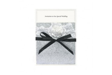Floral Style Wrap & Pocket Invitation Cards With Ribbons (set of 50) (118040274)