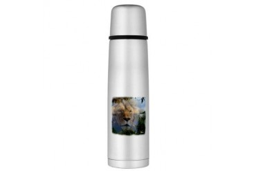 lionlamb.jpg Large Thermos Bottle Religion Large Thermosreg; Bottle by CafePress