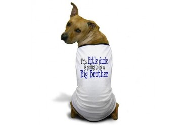 Little Dude is a Big Brother Dog T-Shirt