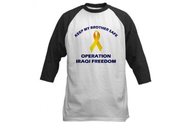 Keep My Brother Safe OIF Military Baseball Jersey by CafePress