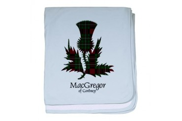 Thistle - MacGregor of Cardney Scottish baby blanket by CafePress