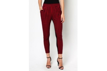 Another Red Cheque Pants