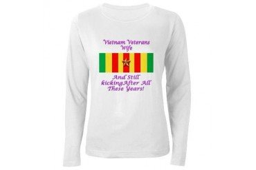Vietnam Veterans Wife Military Women's Long Sleeve T-Shirt by CafePress