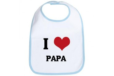 I Love Papa Family Bib by CafePress