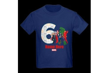 CafePress PERSONALIZED AVENGERS 6TH BIRTHDAY T-SHIRT