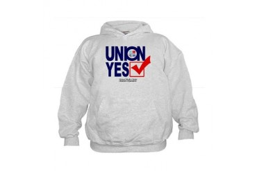 union yes Weather Kids Hoodie by CafePress