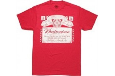 Budweiser Old Timer Heather Red T-Shirt Sheer
