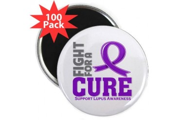 Lupus Fight For A Cure Cancer 2.25 Magnet 100 pack by CafePress
