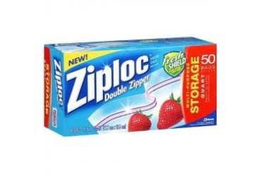 Ziploc Quart Storage Bags - 1 Box (50 bags)