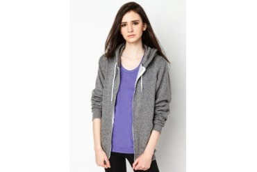 American Apparel Salt And Pepper Zip Hoodie