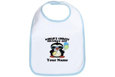 Coolest Birthday Boy Cool Bib by CafePress