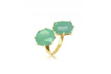 La Diamantine 'You and I' Emerald Green Ring