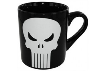Marvel Comics Punisher White Skull on Black Mug