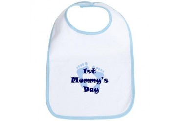 1st Mommy's Day - Blue Feet - Bib