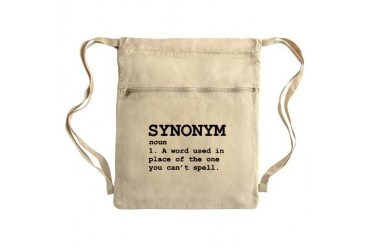 Synonym Definition Sack Pack Funny Cinch Sack by CafePress