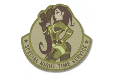 "Mil-Spec Monkey ""Pinup Special Night-Time Service"" Patch - Arid Camo Pattern"