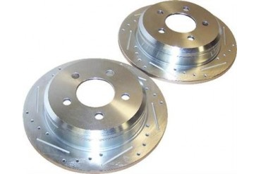 Crown Automotive Drilled and Slotted Rotor Set 52008184DS Disc Brake Rotors