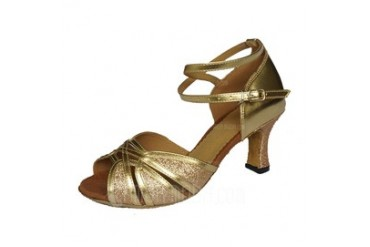 Women's Sparkling Glitter Heels Sandals Latin With Ankle Strap Dance Shoes (053046447)