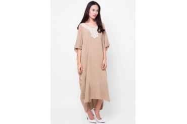 Chic Simple Catton Lace Rayon Caftan