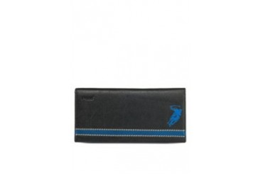 Polo Contrast Panel Long Leather Wallet