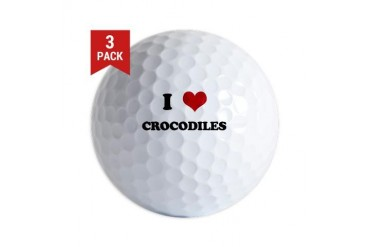 CROCODILES.png Funny Golf Balls by CafePress