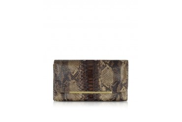 Reversible Green and Brown Python Clutch