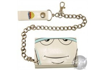 Aqua Teen Hunger Force Master Shake Polymer Tri-Fold Wallet with Chain