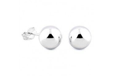 Sterling Silver 6mm Ball Earrings