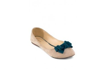 St3p Pointed Toe Ballerinas with Bow